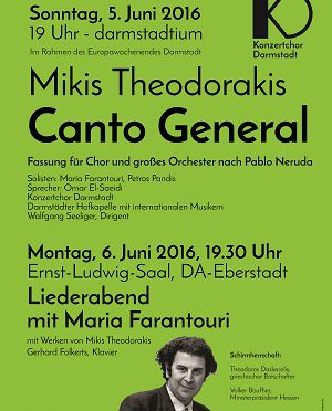 "Mikis Theodorakis: ""Canto General"" in Darmstadt"